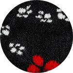 Noir pattes rouges